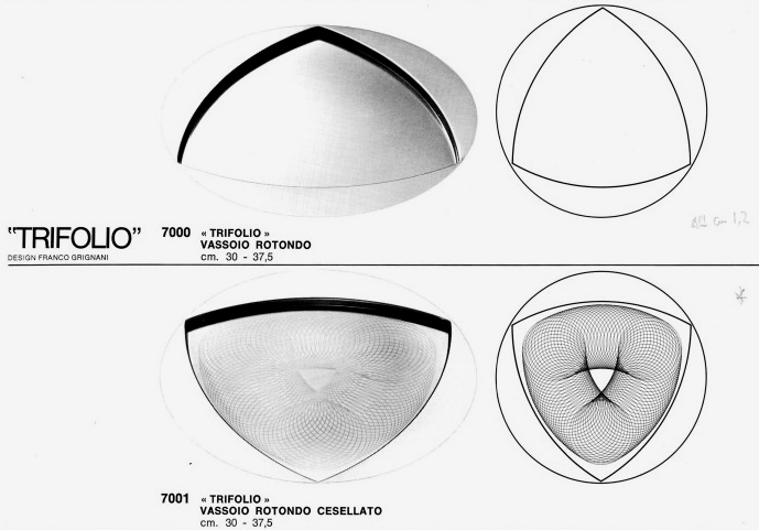 Franco Grignani, Trifolio tray for Alessi, 1974 [11]