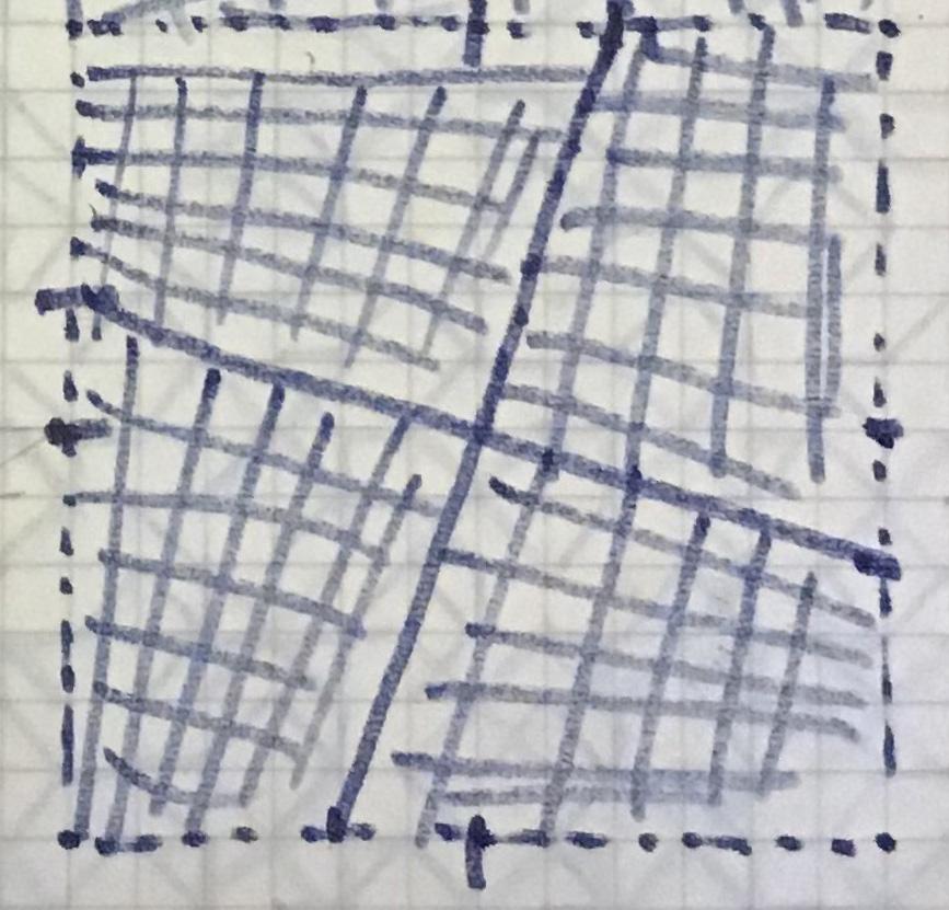 Franco Grignani, a grid for distortion (sketch)
