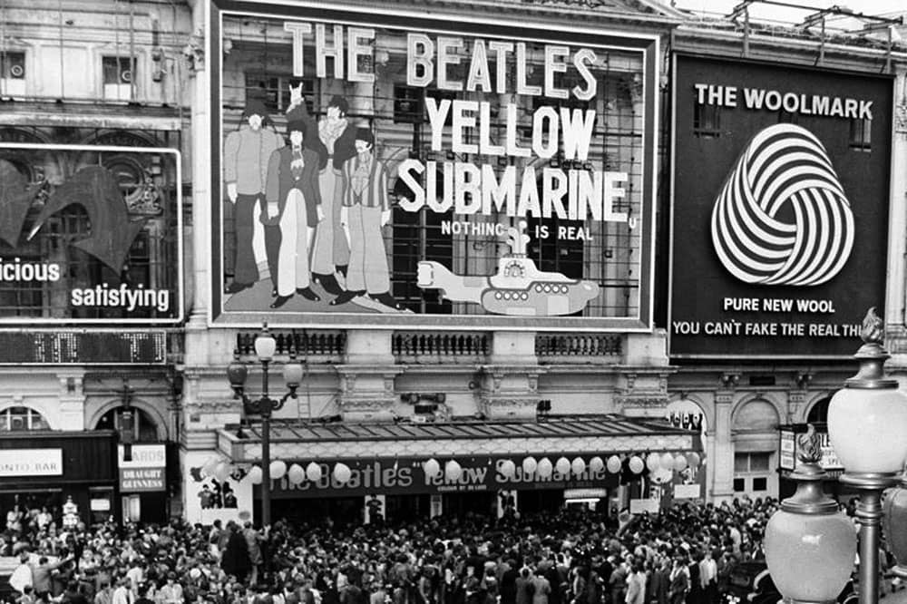 Woolmark Ad in London - Piccadilly Circus, 17 July 1968