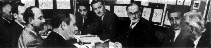 The IWS judging panel in London, 1963