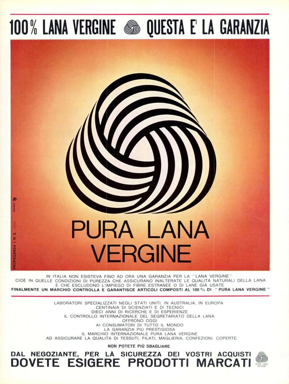 Woolmark Ad in Italy, 1965