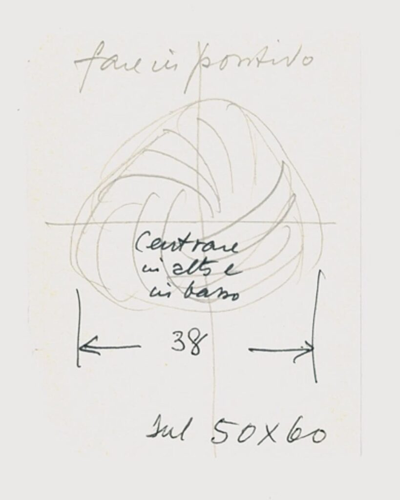 Project sketch of the Woolmark by Franco Grignani, 1963