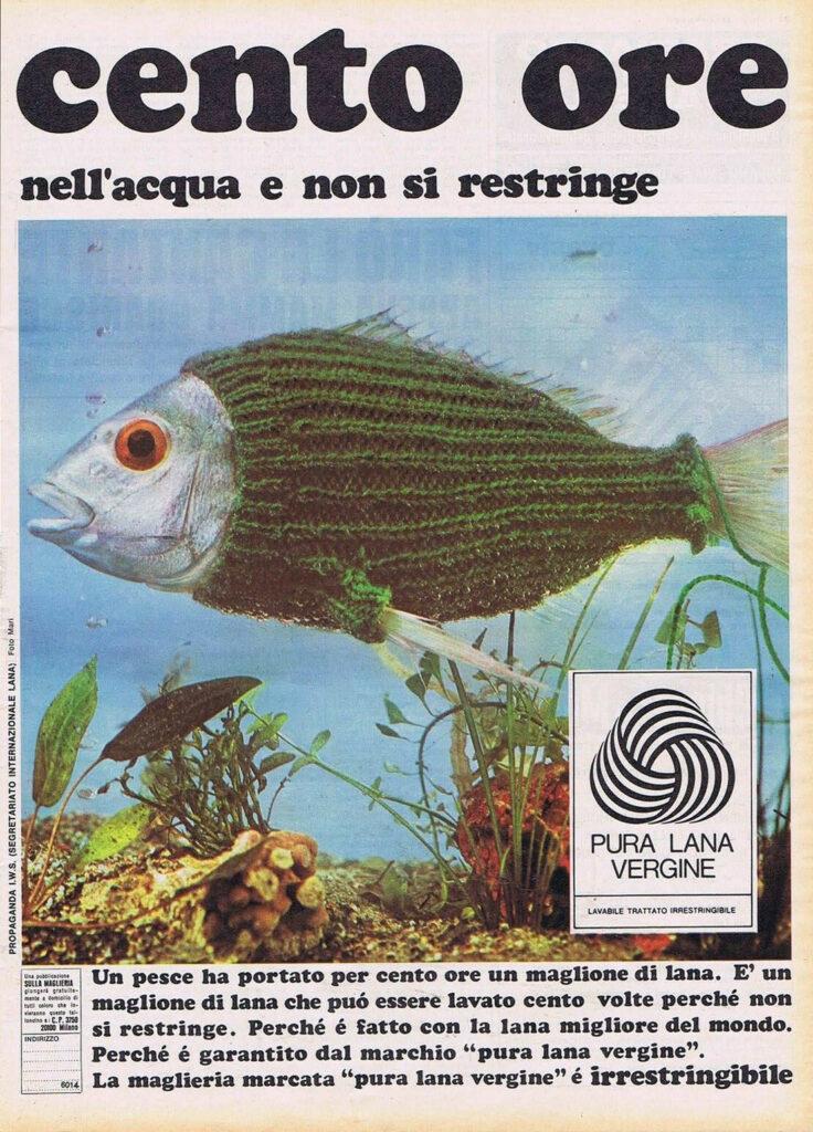 IWS Ad from 'Saroglia Studio Pubblicità', 1969