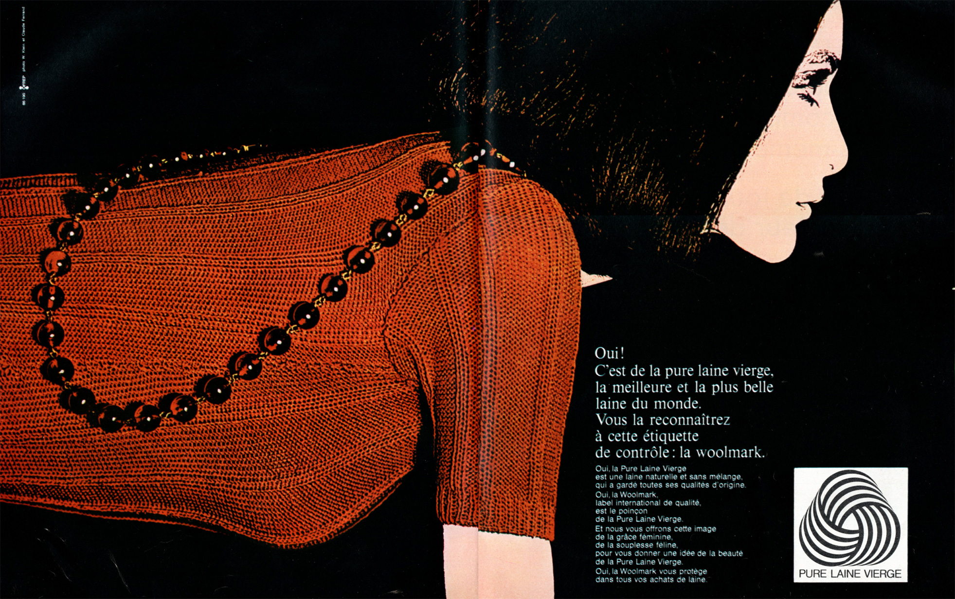 Woolmark advertising campaign in France, 1965