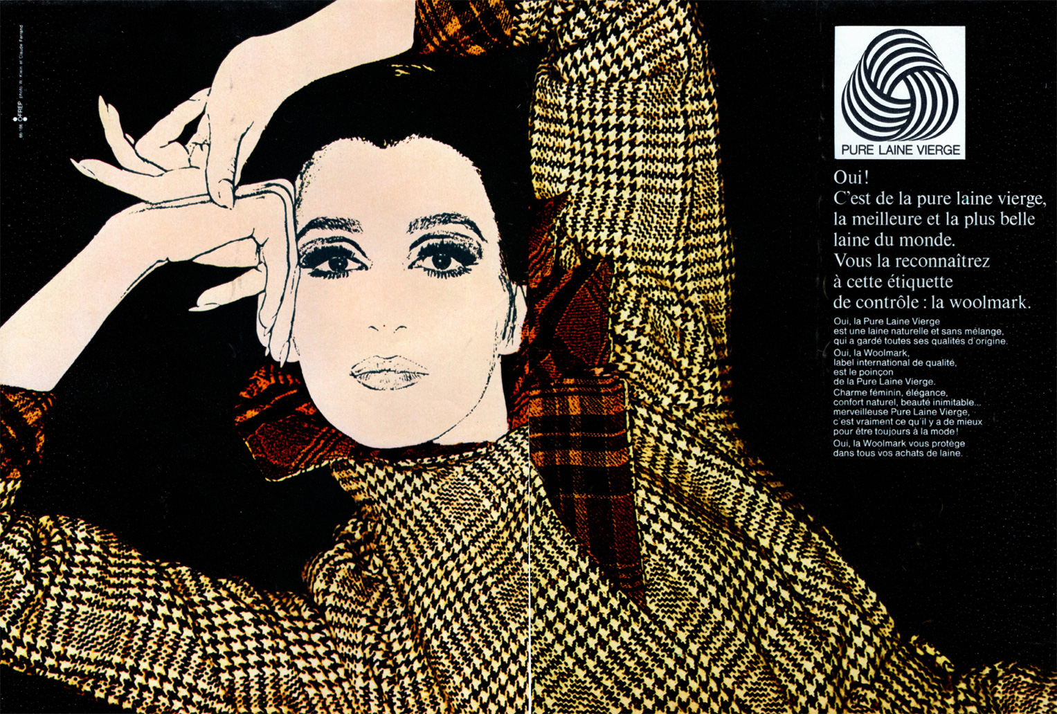Woolmark advertising campaign in France, 1966