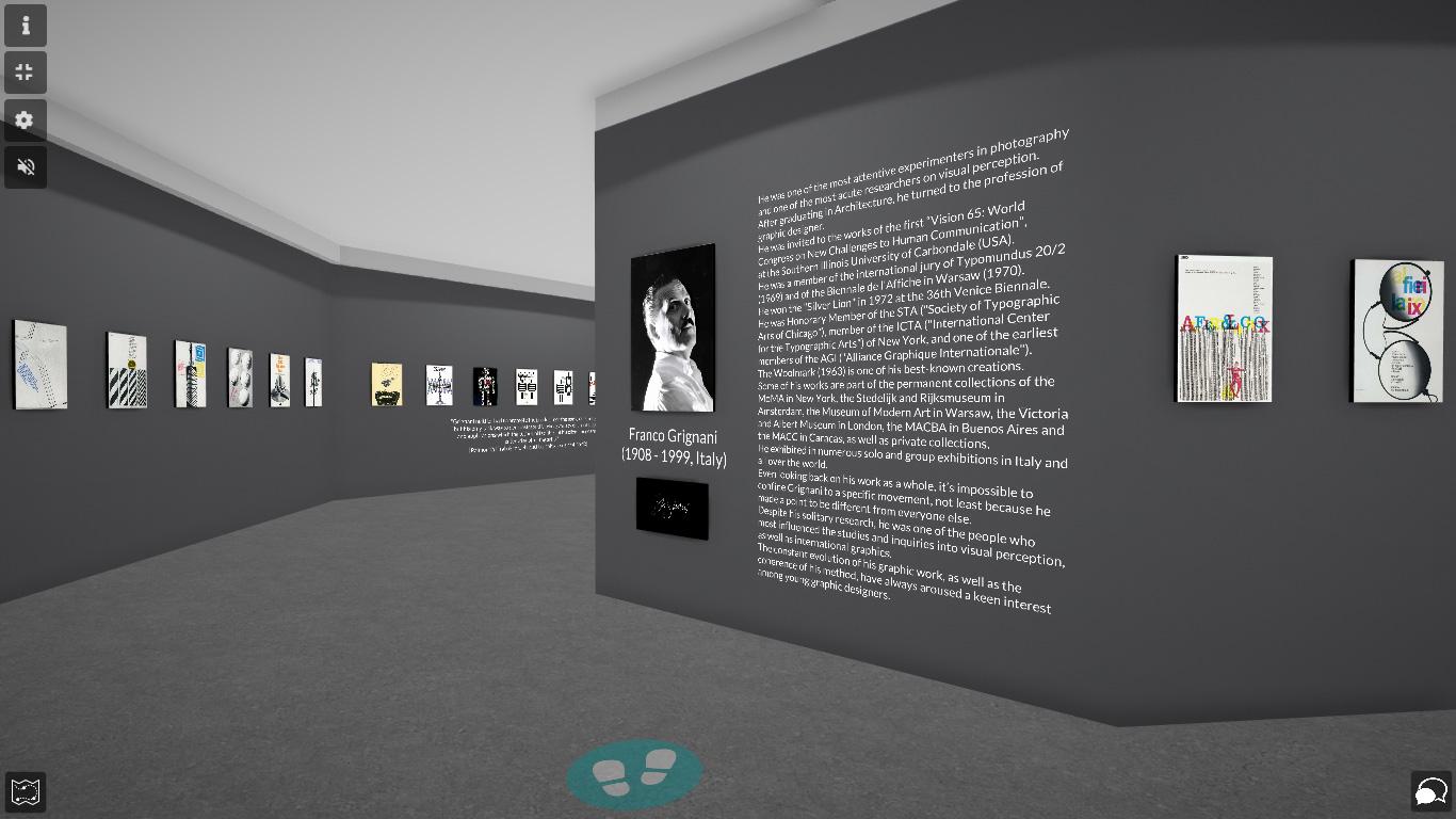 Franco Grignani for A&L: virtual exhibit on artsteps