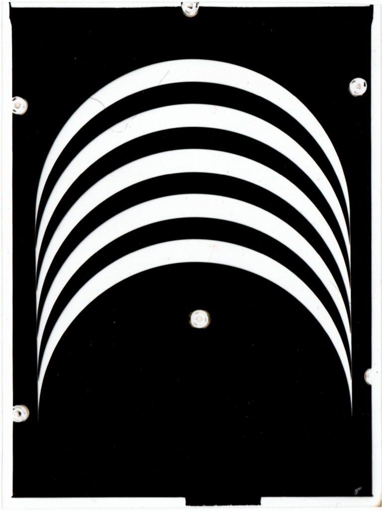 Franco Grignani, photographic negative of the Woolmark basic module, 1963