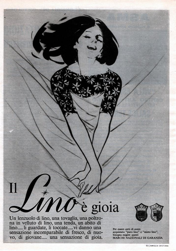 Franco & Jeanne Grignani, Ad for 'Lino', 1965
