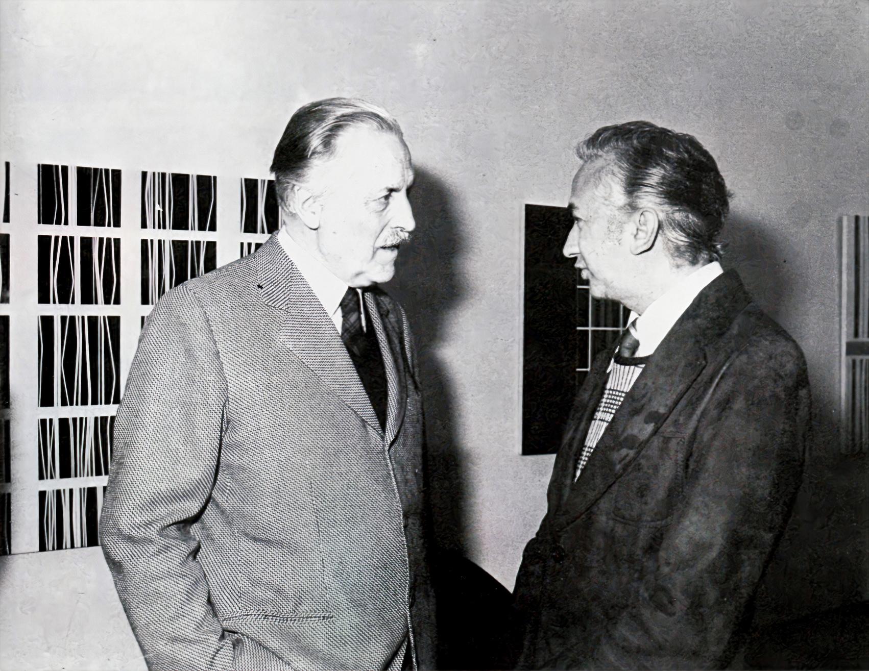 Franco Grignani and Omar Carreño at Marcon IV Gallery, 1976